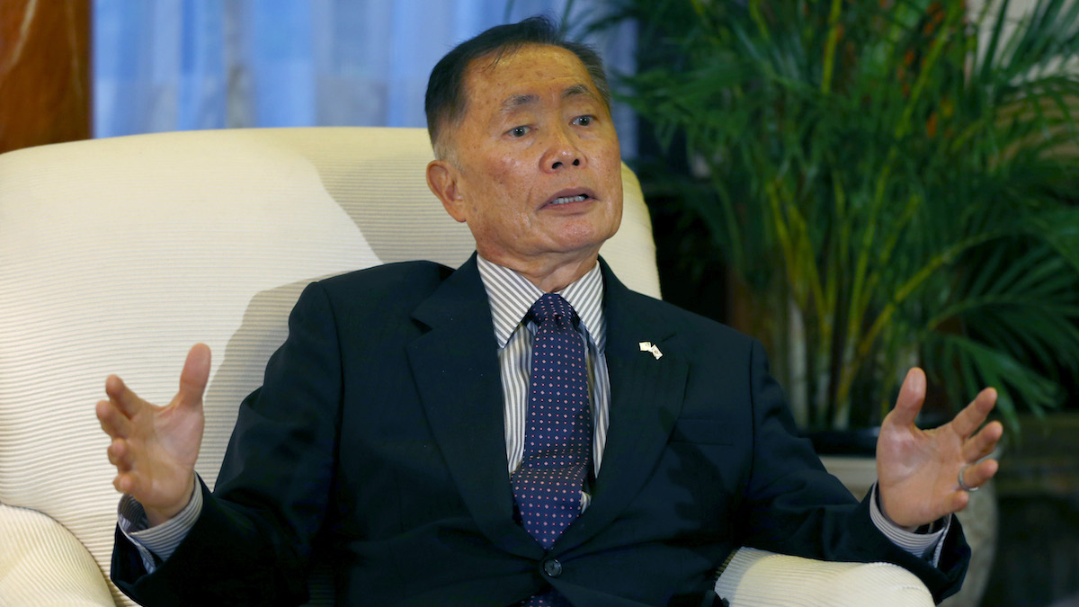 George Takei speaks during an interview on Thursday, June 5, 2014. Takei said recently in an interview that Donald Trump's proposed registry is a