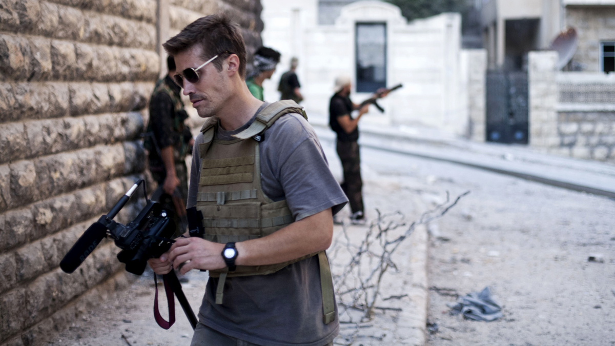 This photo posted on the website freejamesfoley.org shows American journalist James Foley in Aleppo, Syria, in September 2012 before he was kidnapped and beheaded.