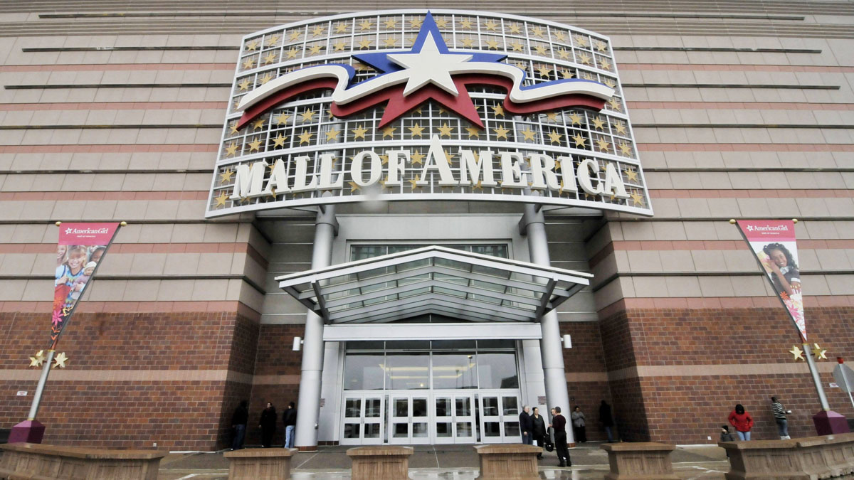 In this Oct. 27, 2010 file photo, an entrance to the Mall of America is seen in Bloomington, Minn.