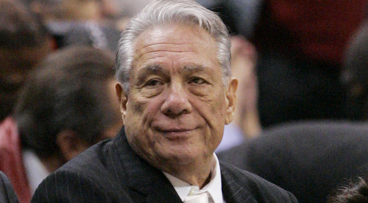 This Jan. 9, 2008 file photo shows Los Angeles Clippers owner Donald Sterling during an NBA basketball game in Los Angeles.