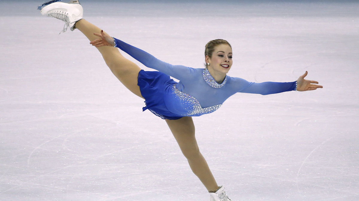 Gracie Gold competes during the women's free skate at the U.S. Figure Skating Championships in Boston, Saturday, Jan. 11, 2014.