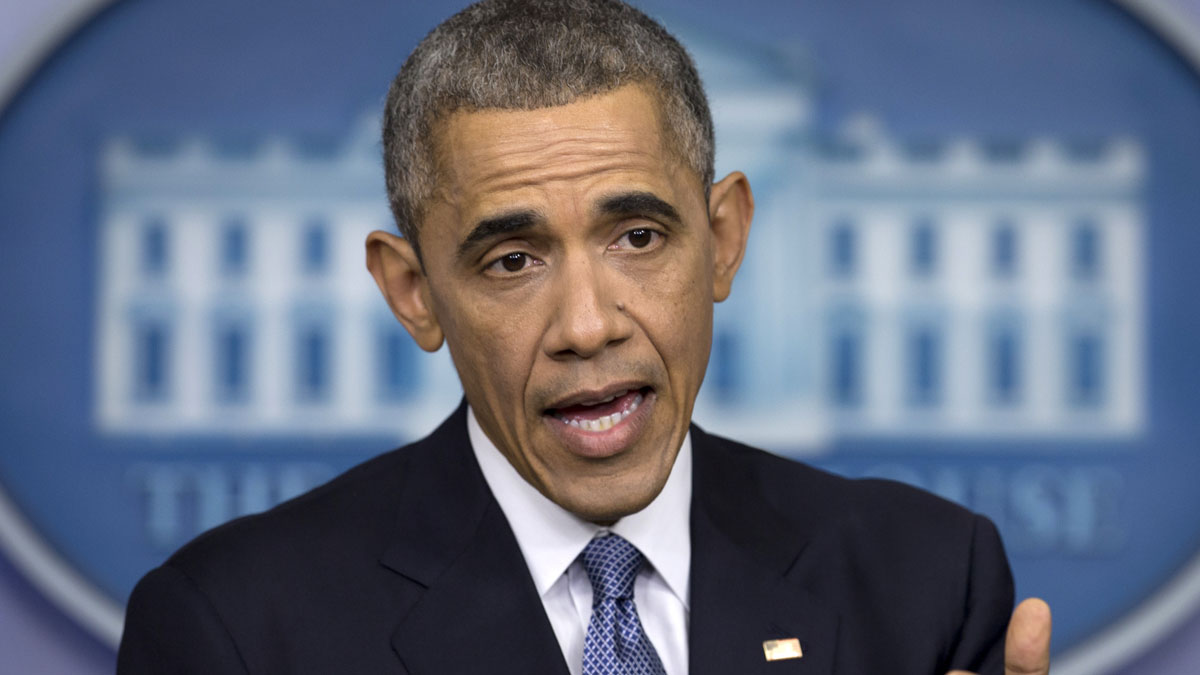 President Barack Obama speaks during a news conference in the Brady Press Briefing Room of the White House in Washington, Friday, Dec. 19, 2014. (AP Photo/Carolyn Kaster)