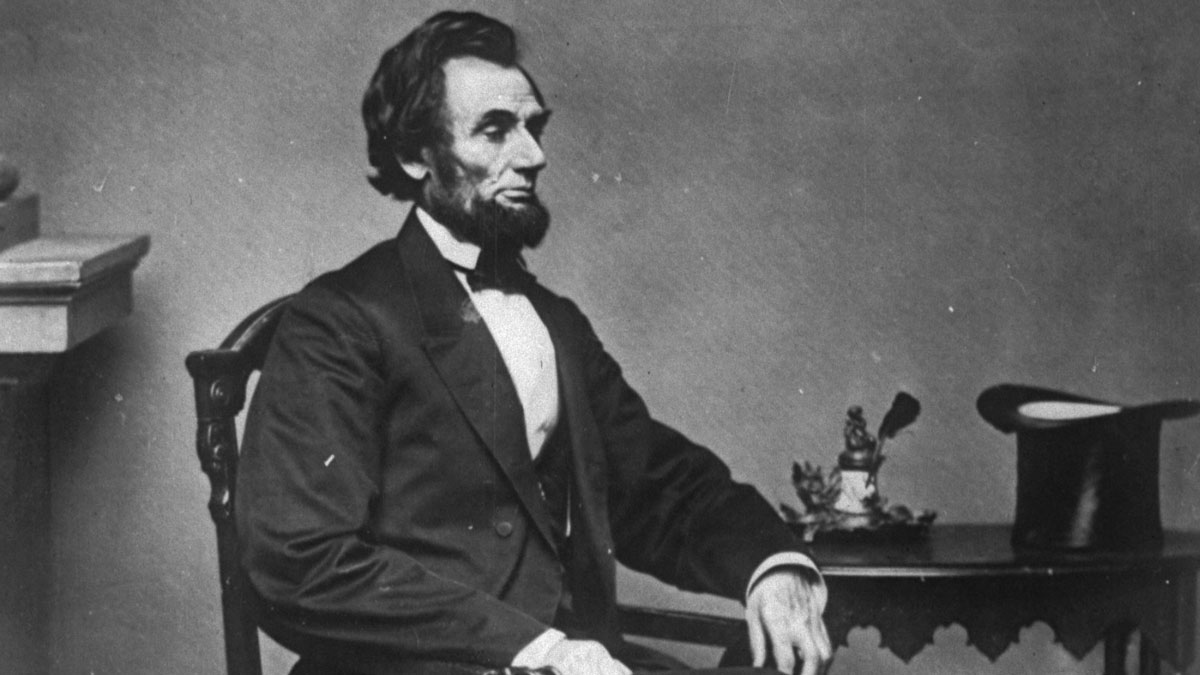 President Abraham Lincoln poses for a portrait in Mathew Brady's studio in Washington February 23, 1861.  (AP Photo/Mathew Brady)