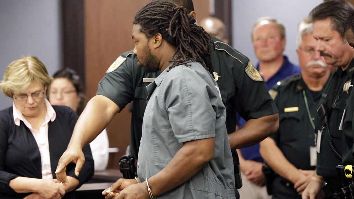 Jesse Leroy Matthew Jr. is escorted into a courtroom for an appearance before 405th District Court Judge Michelle Slaughter regarding his extradition back to Virginia Thursday, Sept. 25, 2014, in Galveston, Texas. Matthew Jr. was arrested on a beach in the Texas community of Gilchrist by Galveston County Sheriff's authorities. He is charged with abducting missing University of Virginia sophomore Hannah Graham and is awaiting extradition.
