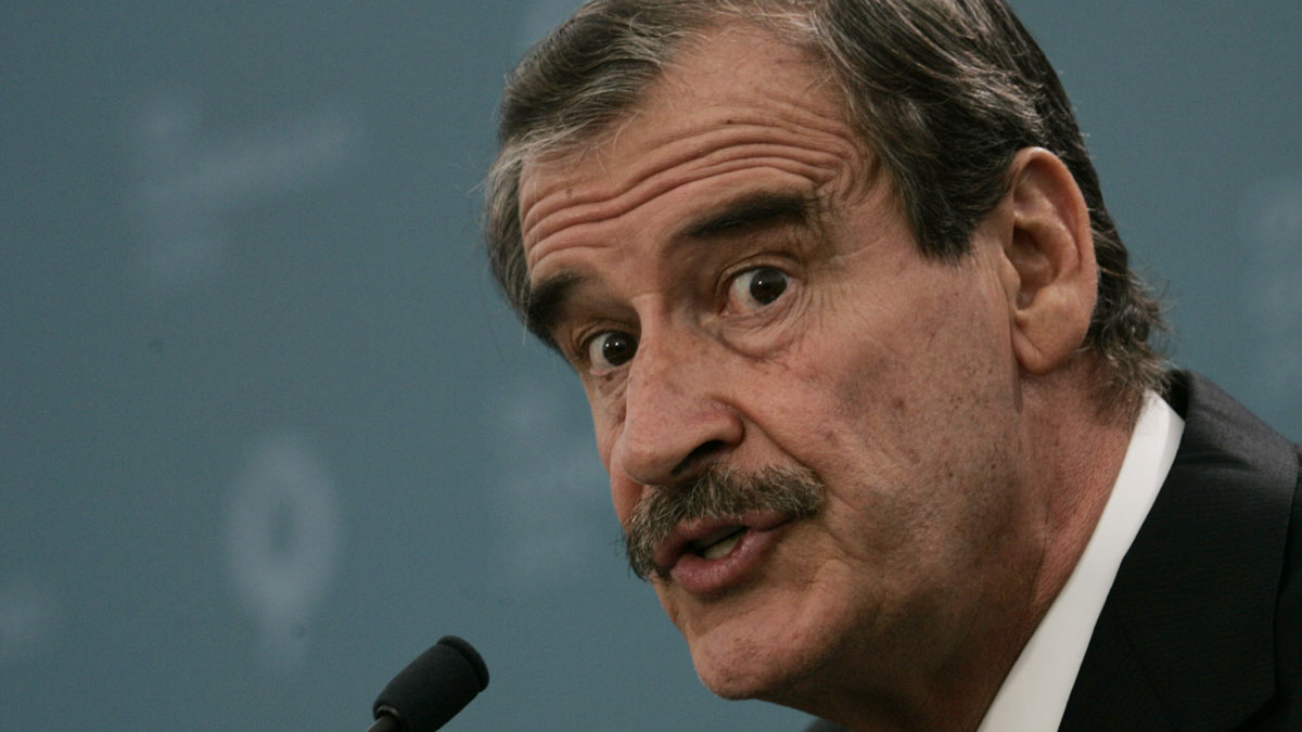 File photo: Mexico's President Vicente Fox, speaks during the G8 summit at the Gleneagles Hotel near Auchterarder, Scotland, Thursday July 7, 2005.