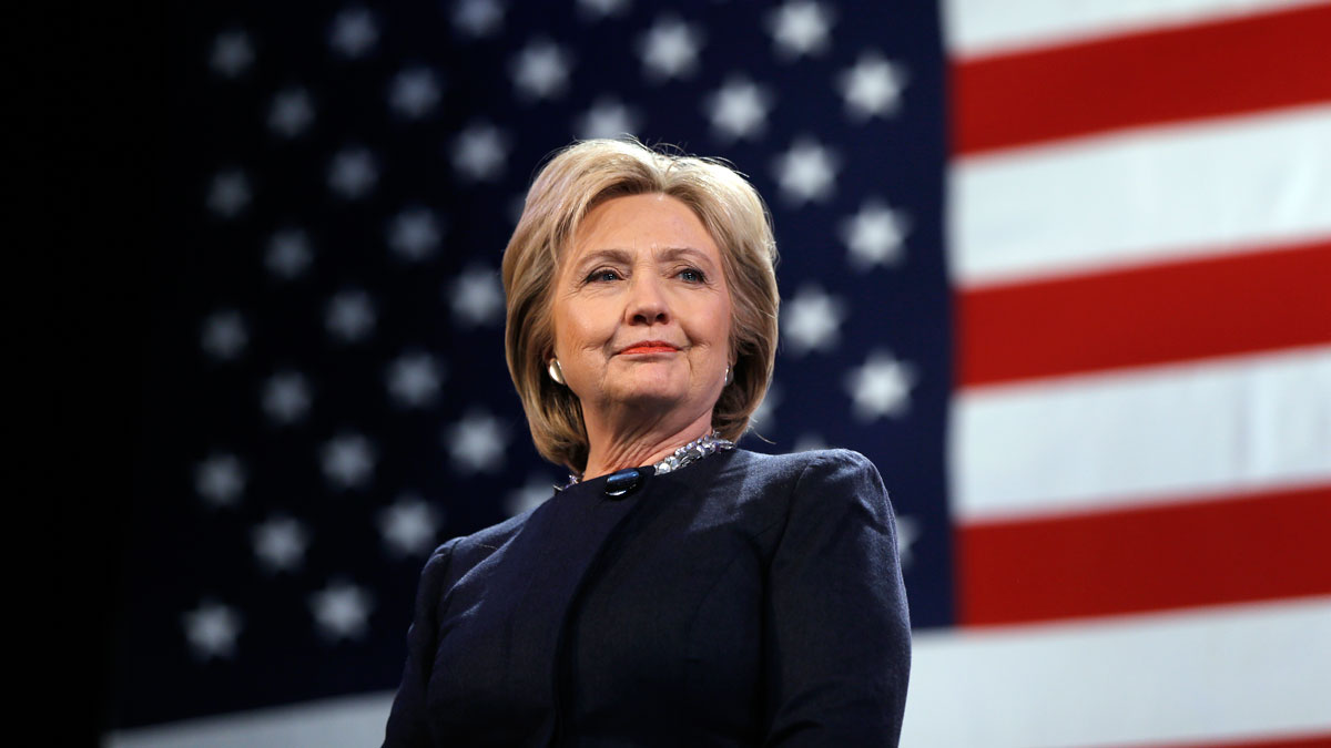 In this file photo, Democratic presidential candidate Hillary Clinton is introduced during a campaign stop Friday, Jan. 22, 2016, in Rochester, N.H.