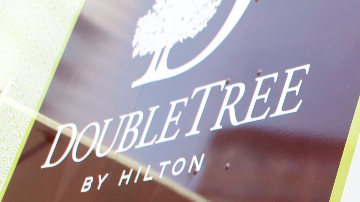 DoubleTree by Hilton's logo as seen in this May 26, 2011, file photo.