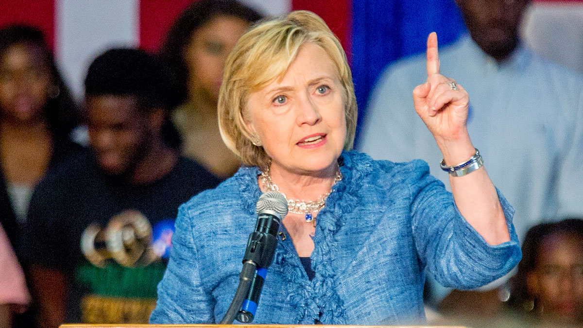 Democratic presidential candidate Hillary Rodham Clinton speaks at a grassroots organizing meeting at Philander Smith College Monday, Sept. 21, 2015, in Little Rock, Ark.