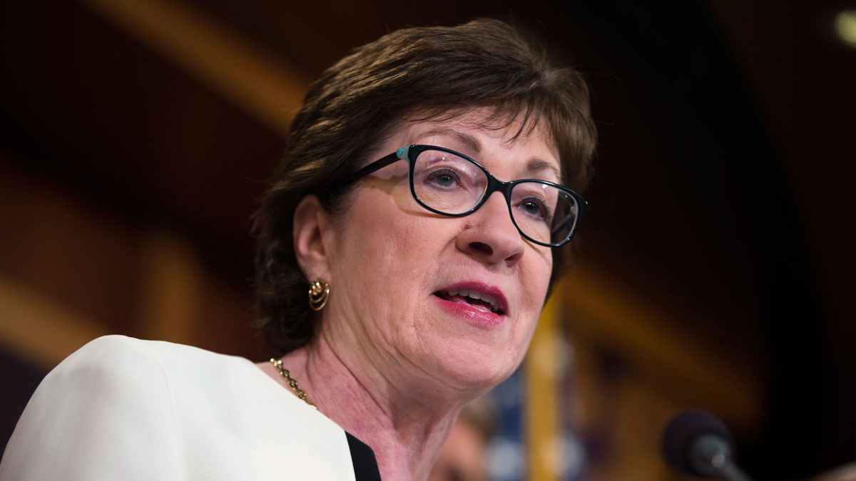 Sen. Susan Collins, R-Maine speaks during a news conference on Capitol Hill in Washington, Tuesday, June 21, 2016, to unveil a new gun legislation proposal.
