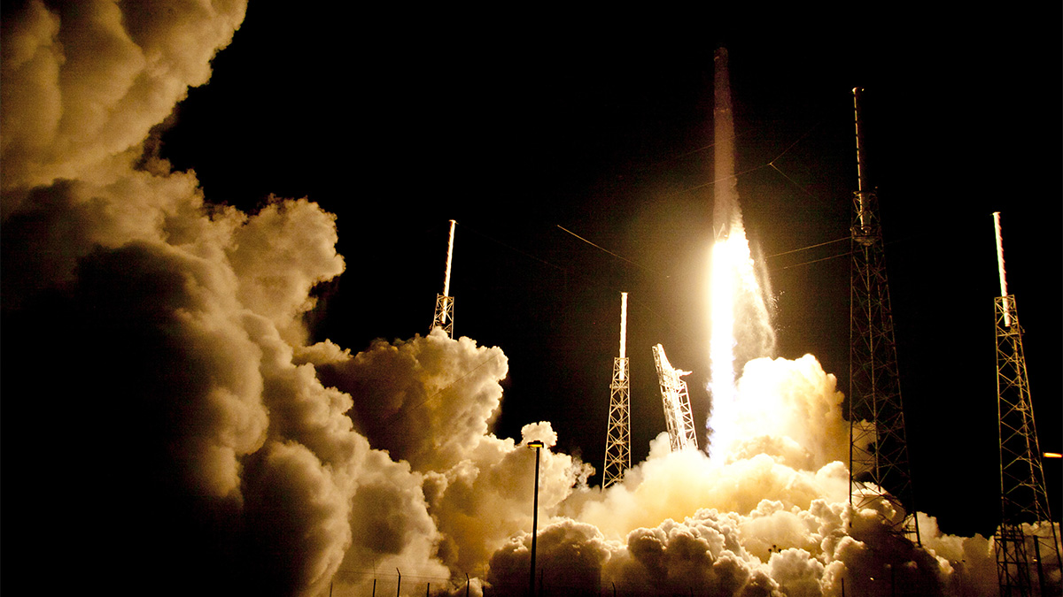 A Falcon 9 SpaceX rocket lifts off from launch complex 40 at the Cape Canaveral Air Force Station in Cape Canaveral, Florida, on July 17, 2016. The spaceflight company has recycled a rocket it plans to launch Thursday, March 30, 2017.