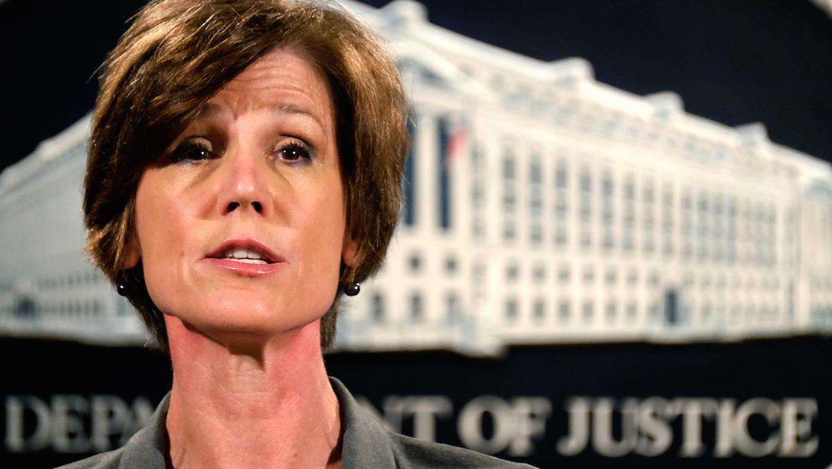 Former Deputy Attorney General Sally Yates.