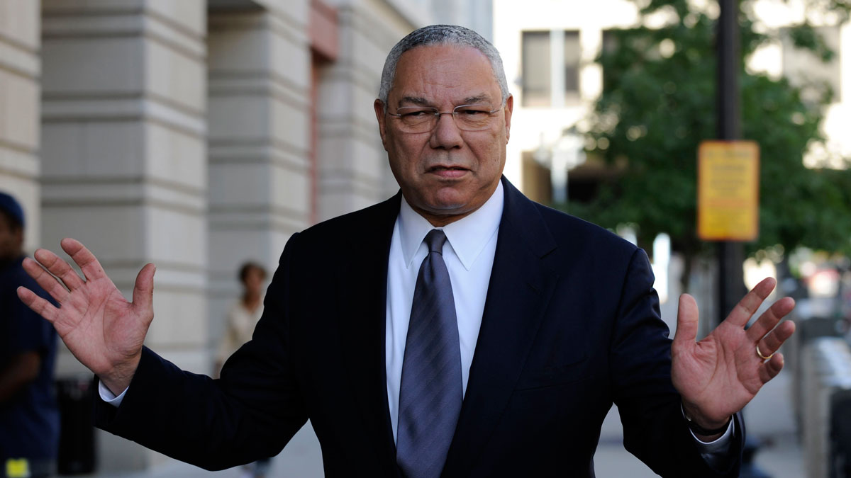 In this Oct. 10, 2008, file photo, former Secretary of State Colin Powell is seen in Washington.