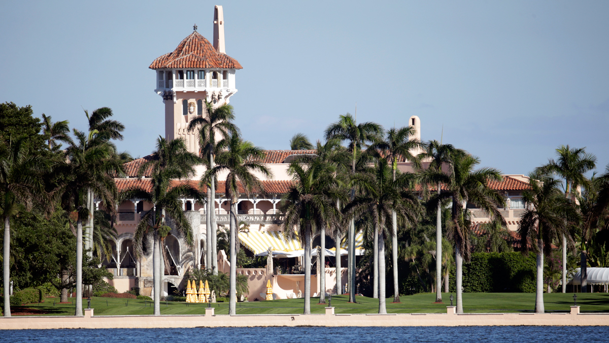 This Monday, Nov. 21, 2016, photo, shows the Mar-a-Lago resort owned by President-elect Donald Trump in Palm Beach, Fla. The initiation fee for the resort has doubled to $200,000, CNBC reported.