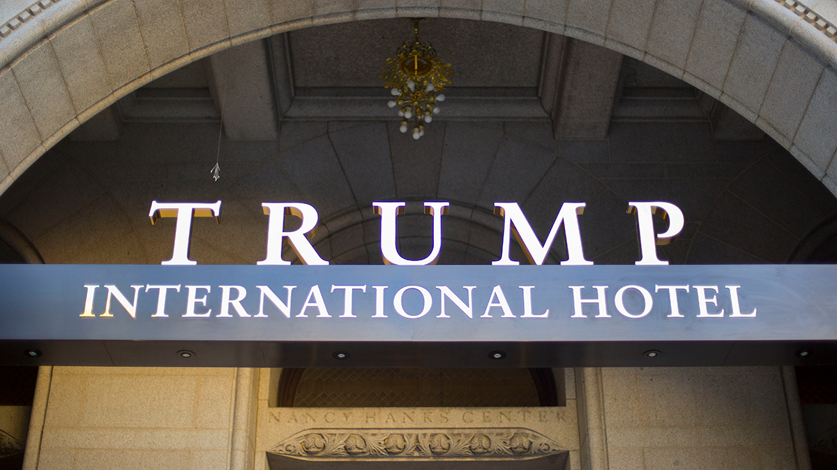 The exterior of the Trump International Hotel in downtown Washington, D.C., shown on Sept. 12, 2016.