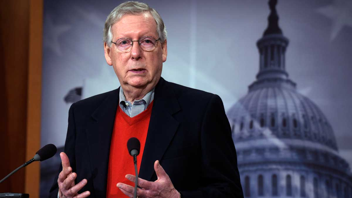 File Photo—Senate Majority Leader Mitch McConnell of Ky., speaks during a news conference on Capitol Hill in Washington, Dec. 12, 2016.