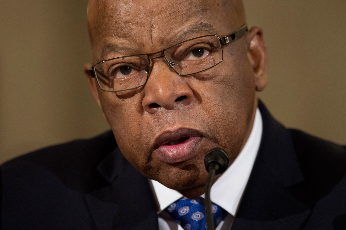 Rep. John Lewis, D-Ga. testifies on Capitol Hill in Washington, Wednesday, Jan. 11, 2017, at the second day of a confirmation hearing for Attorney General-designate, Sen. Jeff Sessions, R-Ala., before the Senate Judiciary Committee.