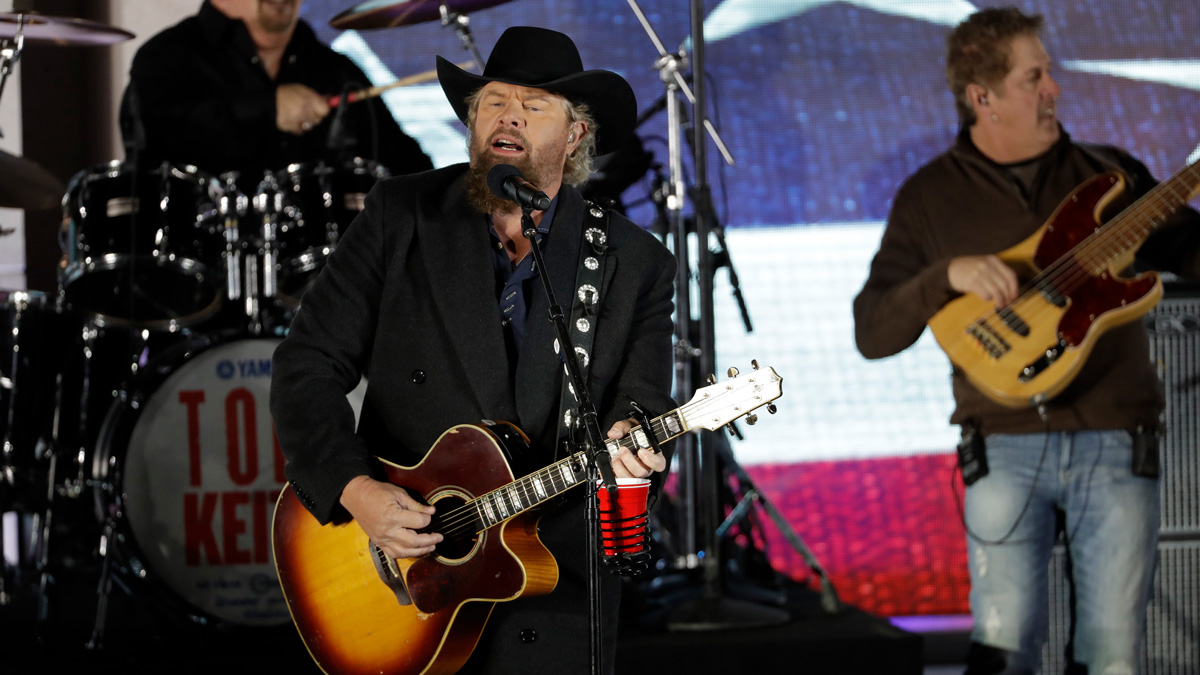 Toby Keith performs at a pre-Inaugural