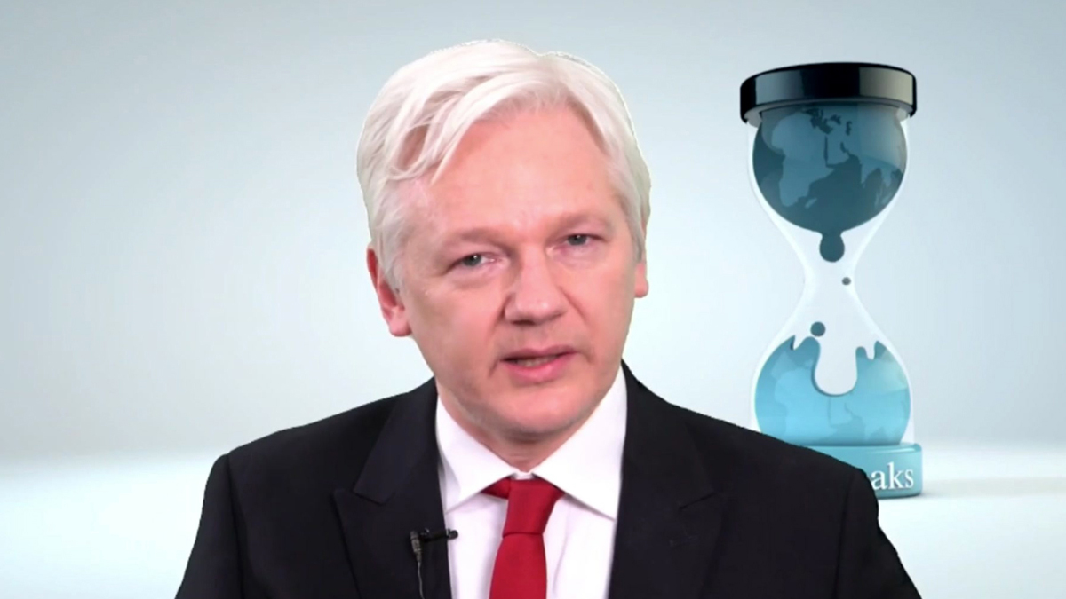 WikiLeaks founder Julian Assange speaks in a video made available March 9, 2017. Assange said his group will work with technology companies to help defeat the Central Intelligence Agency's hacking tools. Assange says