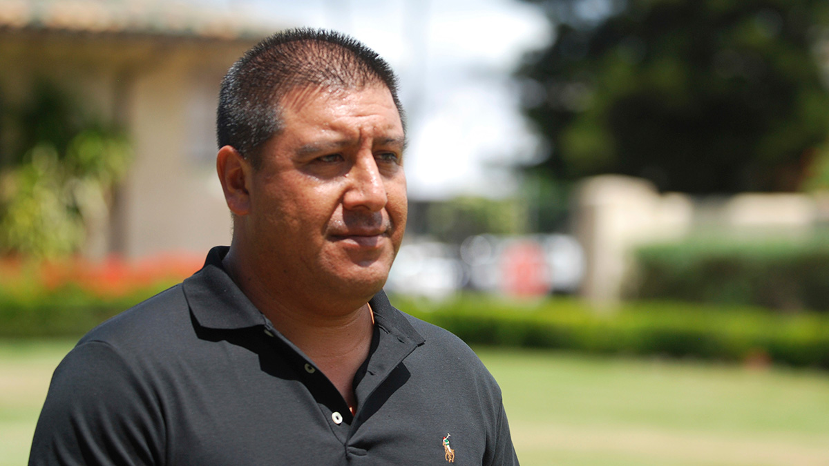 Hawaii coffee farmer Andres Magana Ortiz speaks to reporters in Honolulu on Thursday, June 8, 2017. Magana Ortiz must return to Mexico in 30 days if efforts to halt his deportation aren't successful.