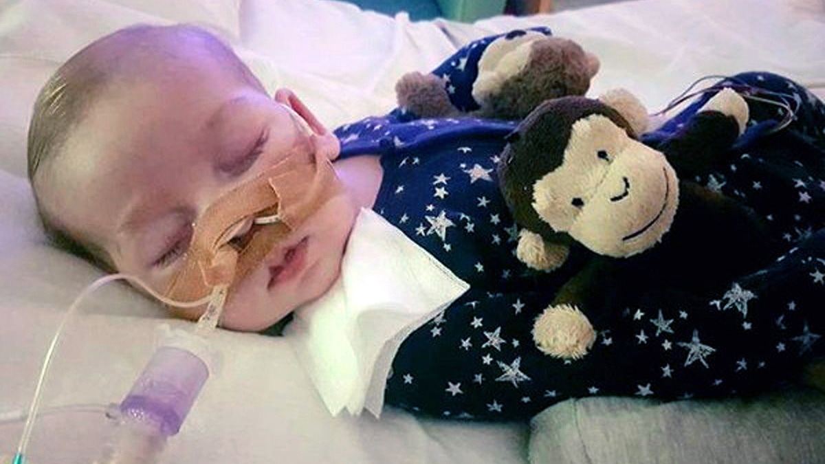 This is an undated hand out photo of Charlie Gard provided by his family, at Great Ormond Street Hospital, in London.