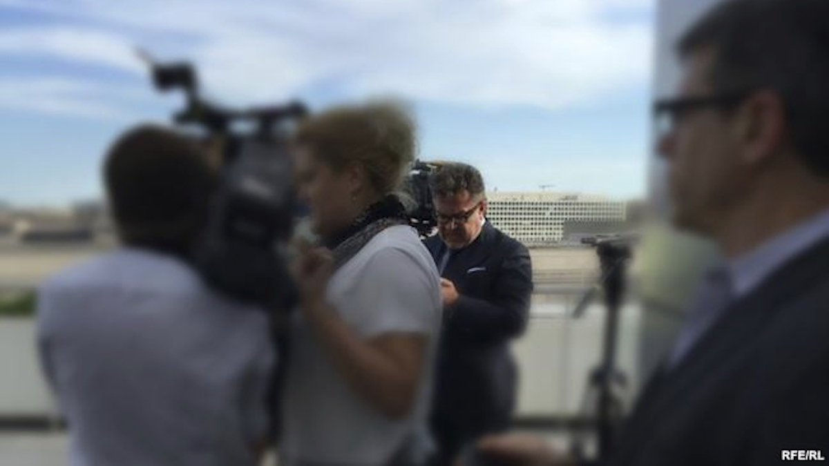 In this photo provided by Radio Free Europe/Radio Liberty, Rinat Akhmetshin is photographed at the Newseum in Washington, June 13, 2016, after a documentary screening. Rep. Adam Schiff, ranking member on the Senate Intelligence Committee says reports that a second Russian person was in a meeting with Donald Trump Jr. last summer