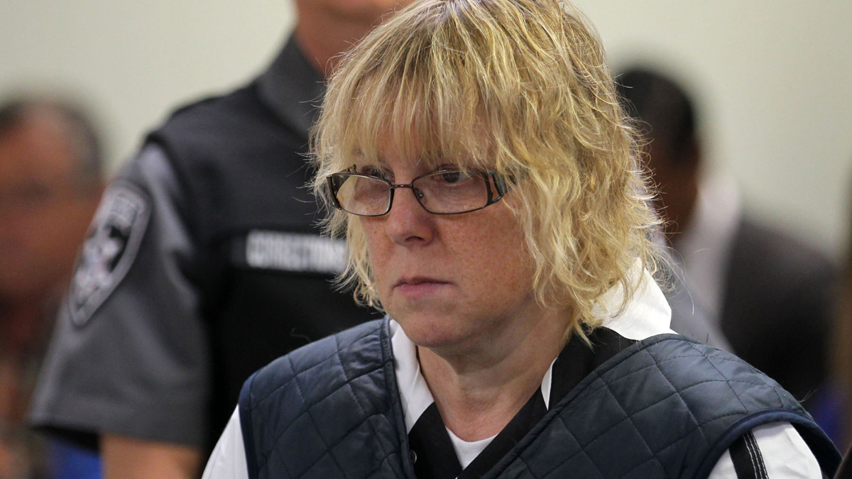 Joyce Mitchell appears before Judge Mark Rogers in Plattsburgh City Court, New York, for a hearing Monday, June 15, 2015.