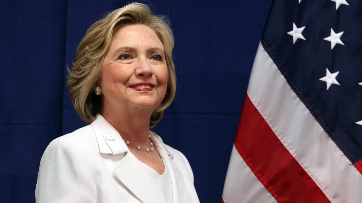 Democratic presidential candidate Hillary Rodham Clinton attends a news conference after a roundtable to discuss the health care crisis in San Juan, Puerto Rico, Friday, Sept. 4, 2015.