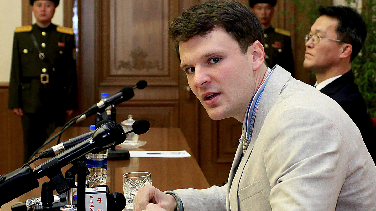 In this Feb. 29, 2016, file photo, American student Otto Warmbier speaks as he is presented to reporters in Pyongyang, North Korea. After being returned to the U.S., Warmbier died on Monday, June 19, 2017.