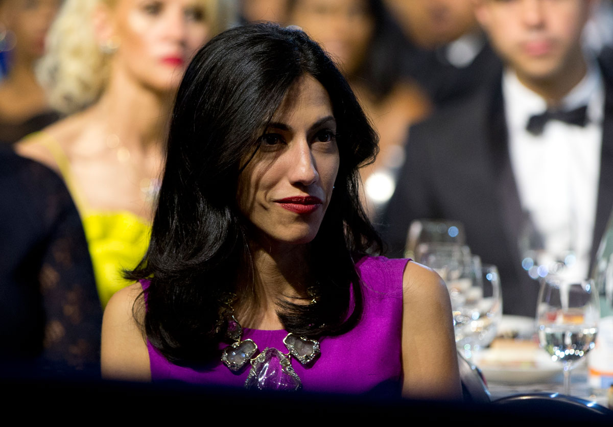 Huma Abedin, aide to Democratic presidential candidate Hillary Rodham Clinton, attends the Congressional Black Caucus Foundation's 45th Annual Legislative Conference Phoenix Awards Dinner at the Walter E. Washington Convention Center in Washington, Saturday, Sept. 19, 2015.