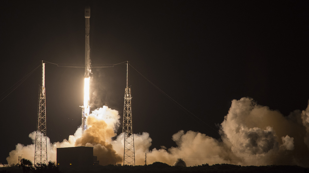 SpaceX's Falcon 9 rocket launches the JCSAT-14 communications satellite at Cape Canaveral, Fla, early May 6, 2016. The company will try to launch and land another rocket for a third time on May 27, 2016.