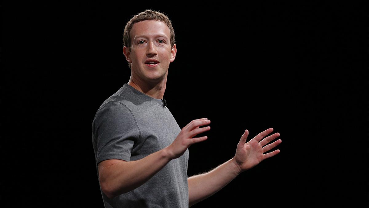 Facebook CEO Mark Zuckerberg speaking during the Samsung Galaxy Unpacked 2016 event in Barcelona, Spain.