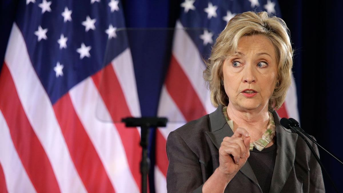 Democratic presidential hopeful Hillary Rodham Clinton speaks, Friday, July 24, 2015, at the New York University Leonard N. Stern School of Business in New York.
