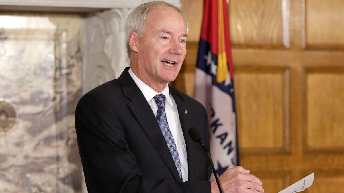 Arkansas Gov. Asa Hutchinson at the Arkansas state Capitol in Little Rock, Ark., Tuesday, Aug. 18, 2015.