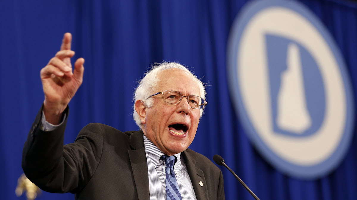 Democratic presidential candidate Sen. Bernie Sanders, I-Vt, speaks during the state's annual Democratic convention Saturday, Sept. 19, 2015, in Manchester, N.H.