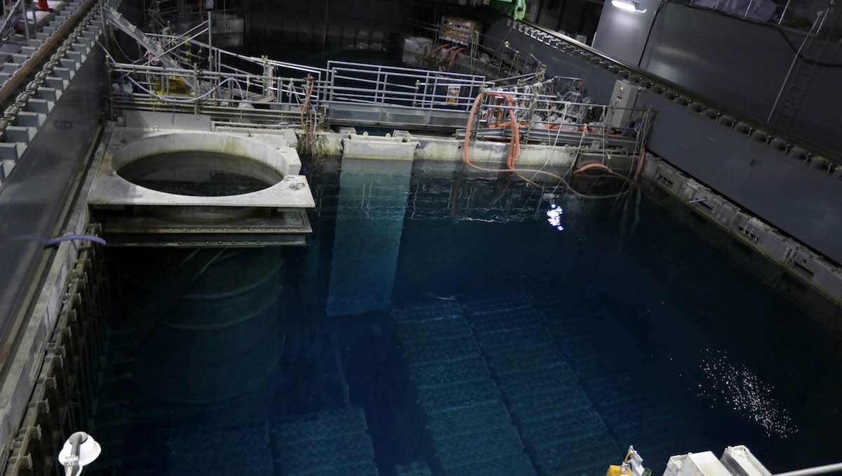 In this file photo, the spent fuel pool is seen inside the building housing the Unit 4 reactor at the Fukushima Dai-ichi nuclear power plant in Okuma, Fukushima Prefecture, Japan, Thursday, Nov. 7, 2013.