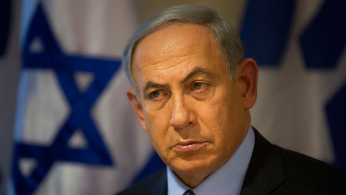 Israeli Prime Minister Benjamin Netanyahu looks on during a press conference at the Foreign Ministry in Jerusalem, Thursday, Oct. 15, 2015.