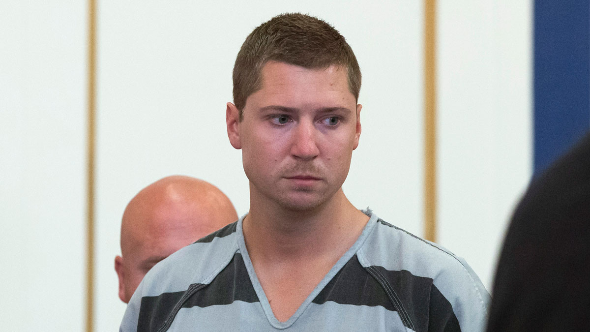 Former University of Cincinnati police officer Ray Tensing appears at Hamilton County Courthouse for his arraignment in the shooting death of motorist Samuel DuBose, Thursday, July 30, 2015, in Cincinnati. Tensing pleaded not guilty to charges of murder and involuntary manslaughter.