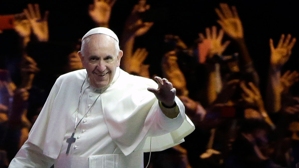 In this file photo, Pope Francis waves to the crowd during a parade, Sept. 26, 2015, in Philadelphia.