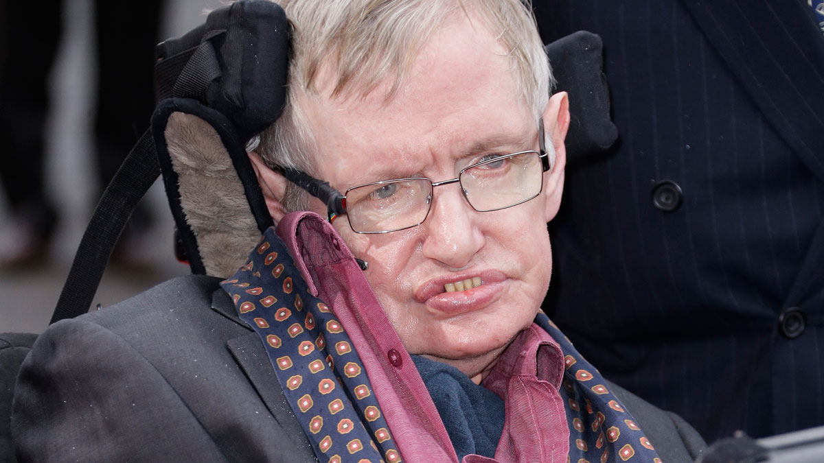 In this file photo, Stephen Hawking arrives for the Interstellar live show at the Royal Albert Hall in central London, March 30, 2015. Hawking is continuing to issue warnings about human life, reportedly saying this week that humanity must go to space to ensure its survival.