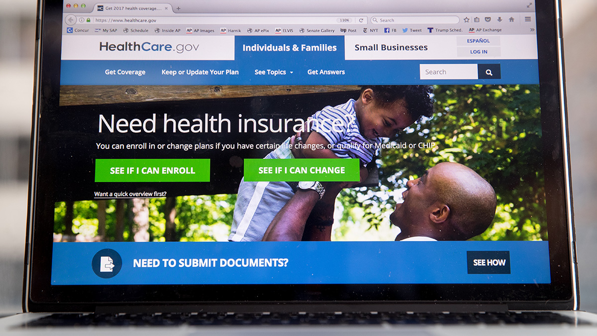 The HealthCare.gov website, where people can buy health insurance, is displayed on a laptop screen in Washington, Thursday, Feb. 9, 2017.