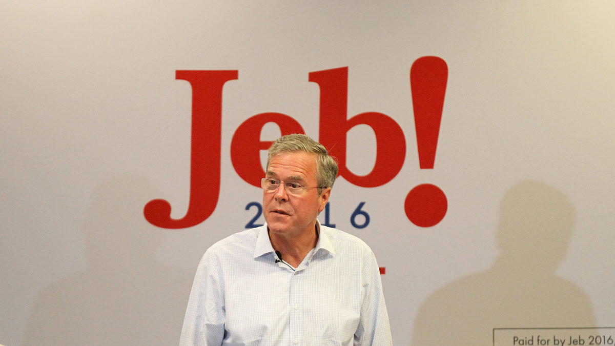 Republican presidential candidate, former Florida Gov. Jeb Bush, speaks during a campaign rally on Thursday, Sept. 17, 2015, in Las Vegas.