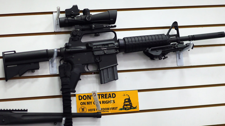 An AR-15 is seen for sale in this stock image.