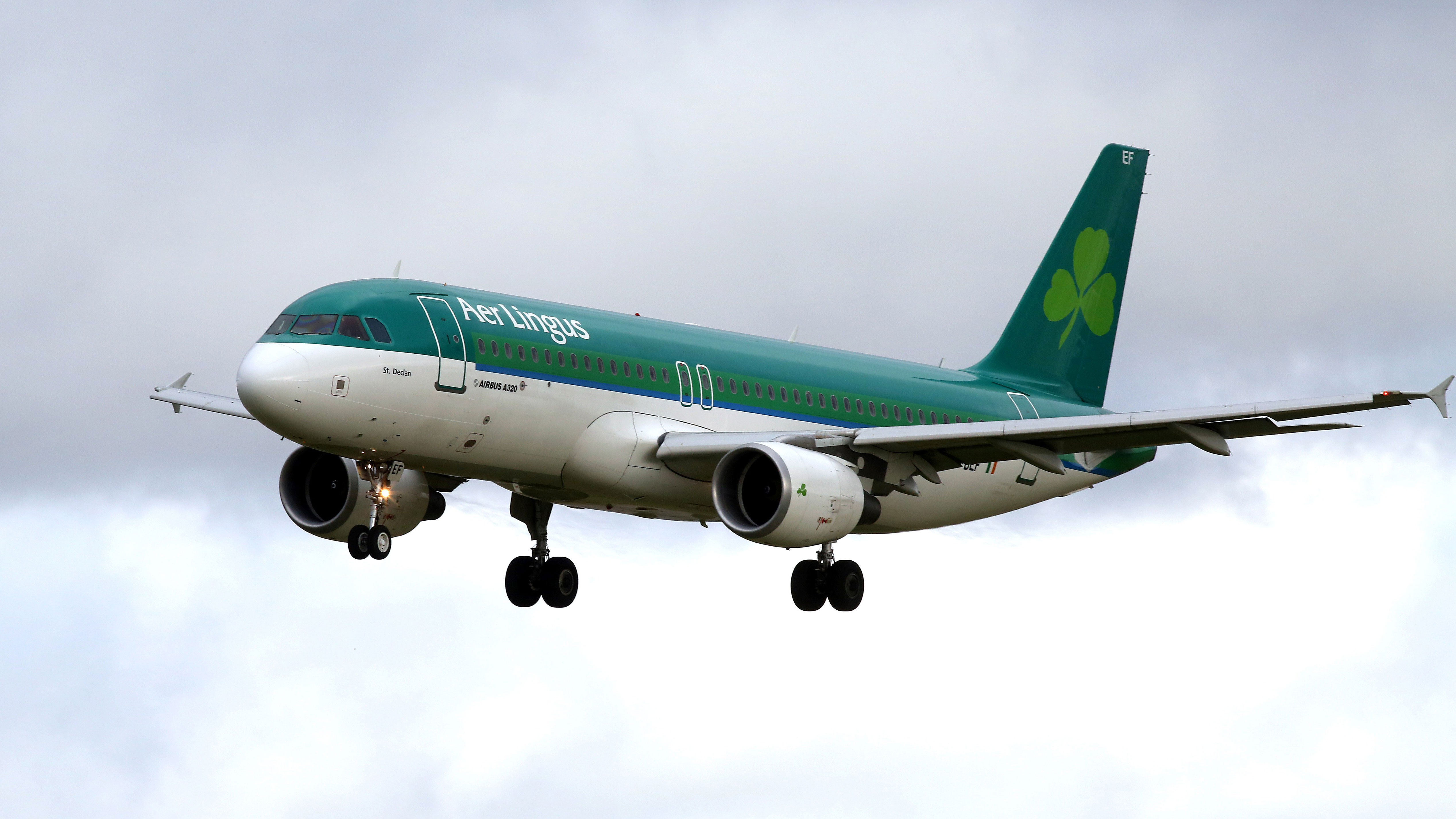 A man died on an Aer Lingus flight on Sunday after biting another passenger.
