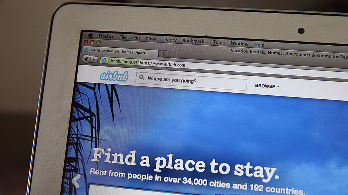 The Airbnb website is displayed on a laptop on April 21, 2014 in San Anselmo, California. Online home-rental marketplace Airbnb Inc. is about to receive more than $450 million in investments from a group led by private-equity firm TPG.