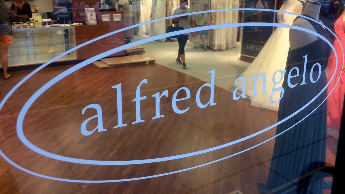 Employees at the Alfred Angelo store in Manchester told NBC Connecticut the store was closing its doors for good Thursday.