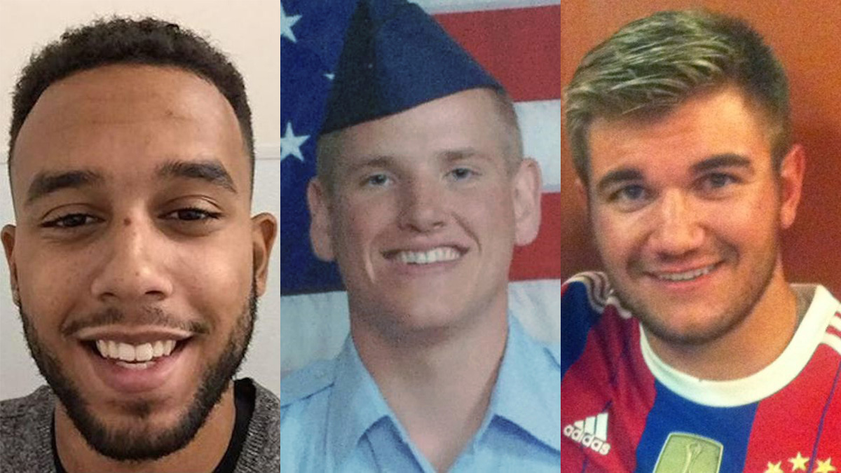 (L to R) Anthony Sadler, Spencer Stone, Alek Skarlatos