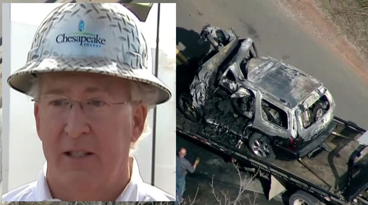 Aubrey McClendon, a natural gas industry titan, was killed in a fiery single-vehicle crash in Oklahoma City a day after he was indicted on a charge of conspiring to rig bids to buy oil and natural gas leases in northwest Oklahoma. Authorities said they didn't find any evidence pointing to suicide.