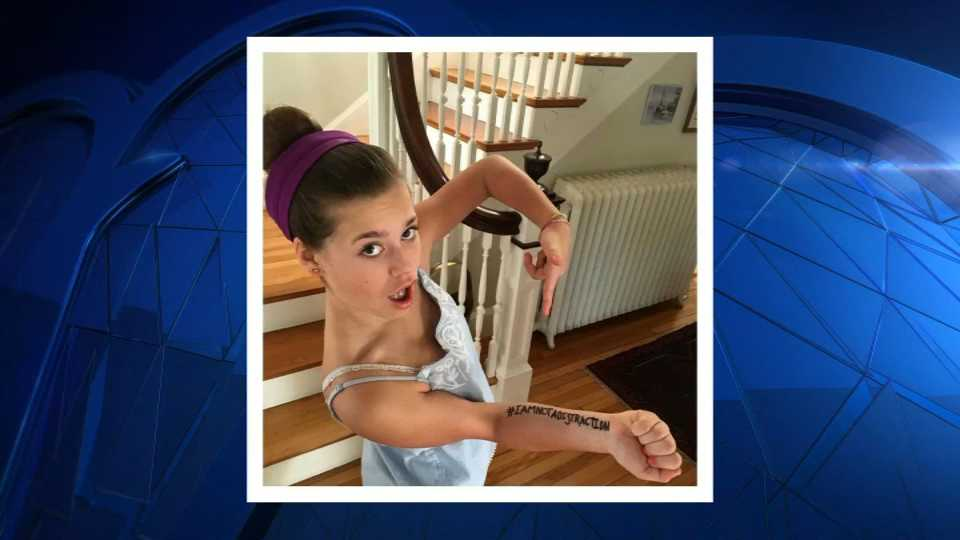 Molly Neuner, 11, of Portland, Maine, has made national headlines for protesting her middle school's dress code