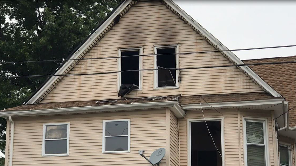 Eight people were displaced by a fire on the third floor of 158 Beechwood Avenue in Bridgeport Monday night.