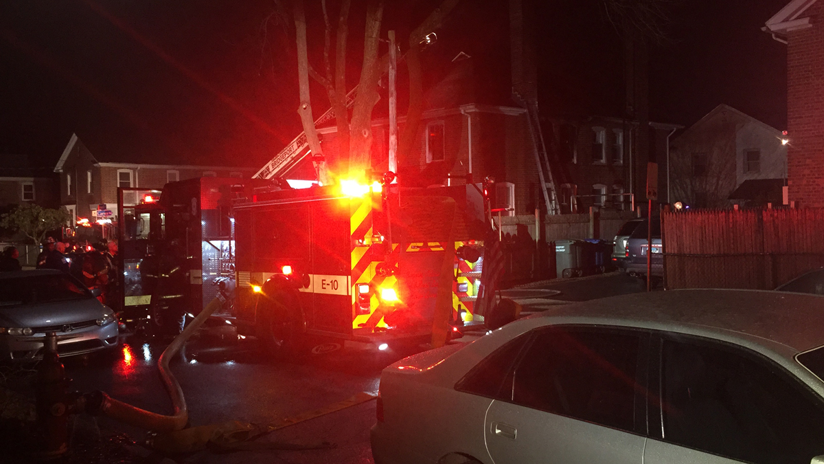 Fire broke out at a home on Carver Street in Bridgeport Wednesday morning.